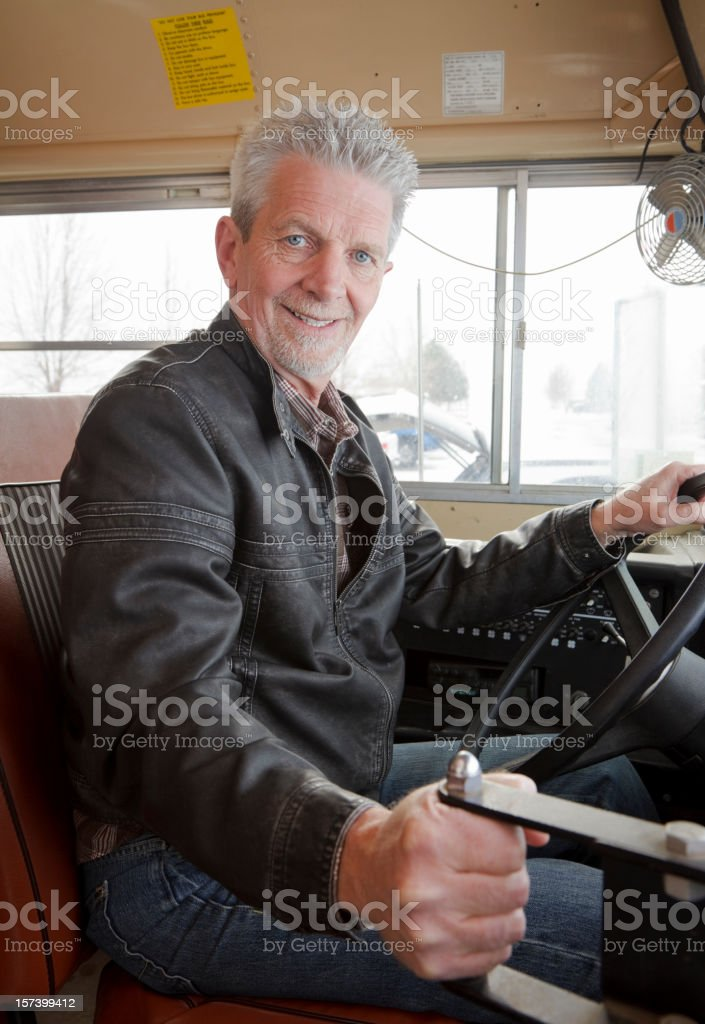 Driver on a School Bus stock photo