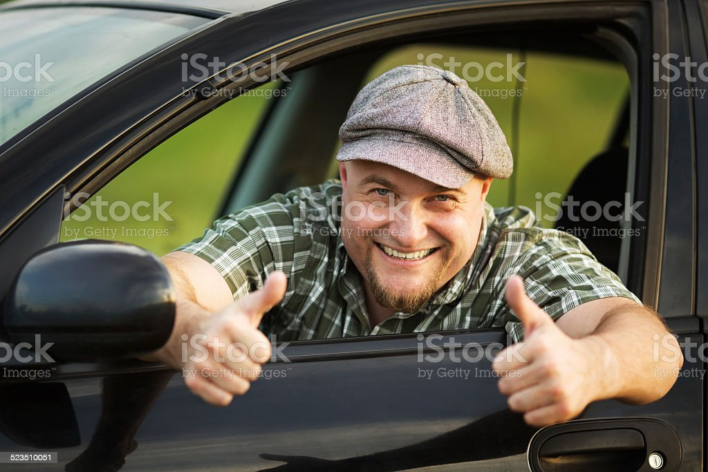 Driver shows that everything is fine stock photo