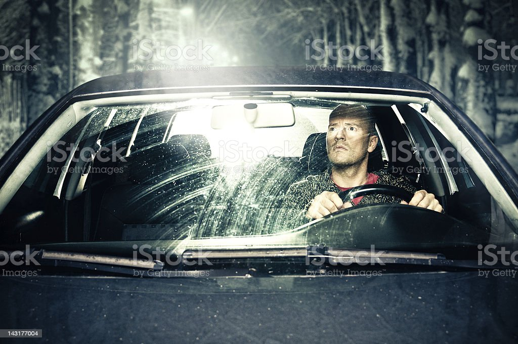 Driver stopped by police stock photo