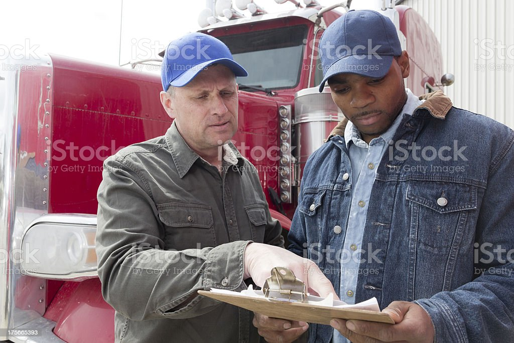 Drivers and Clipboard stock photo