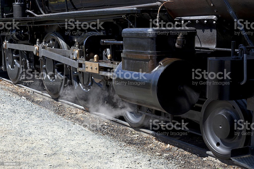 Drivers on Steam Locomotive royalty-free stock photo