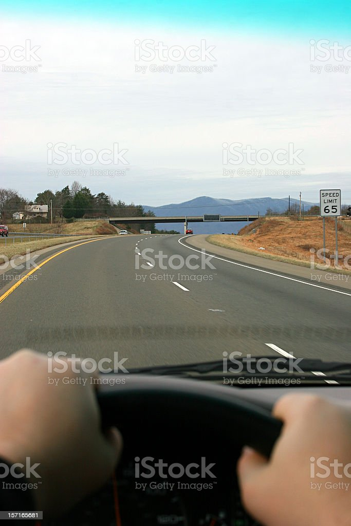 Driver's Perspective Vertical 1 royalty-free stock photo