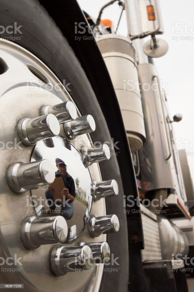 Drivers Reflection royalty-free stock photo