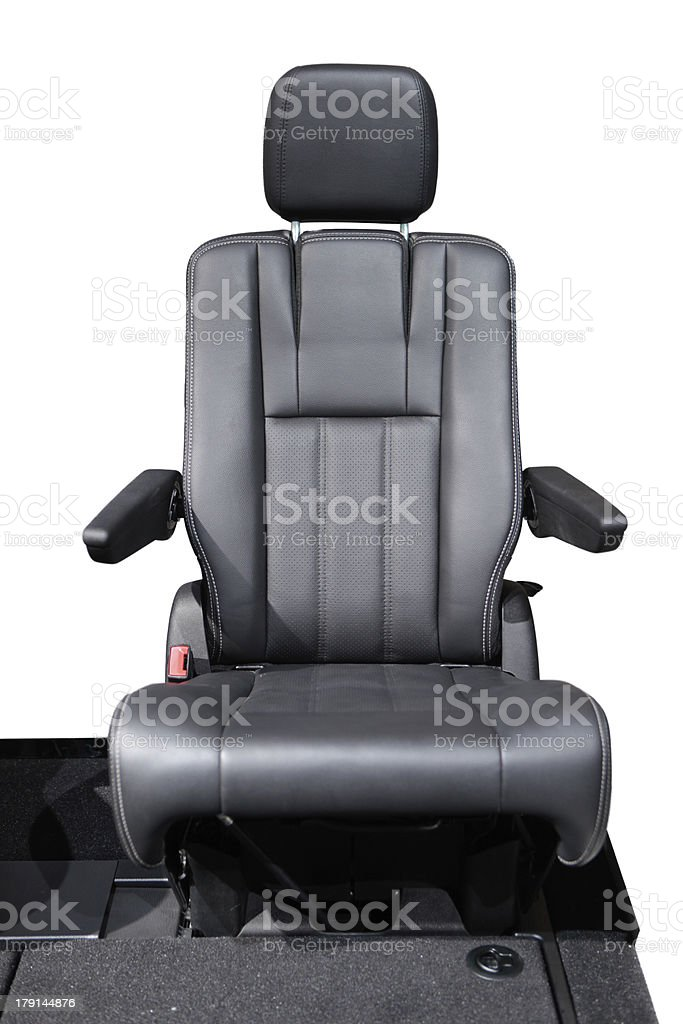 Driver's Seat Isolated on White stock photo