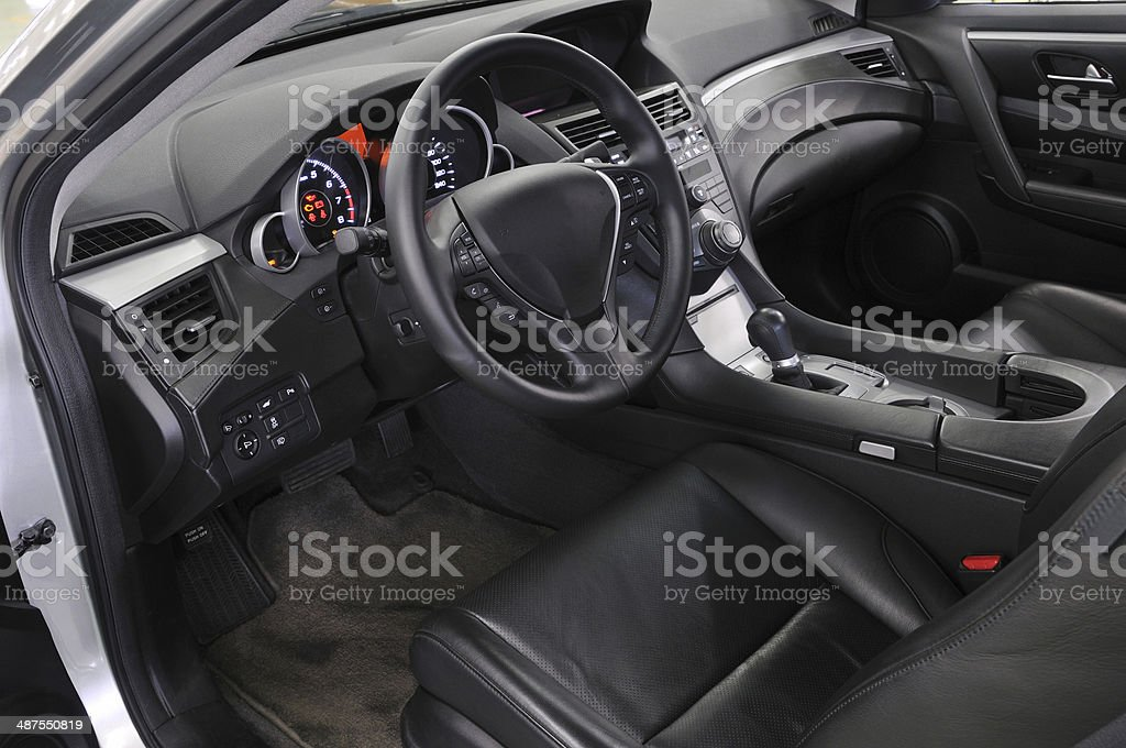 Driver's seat of the car stock photo