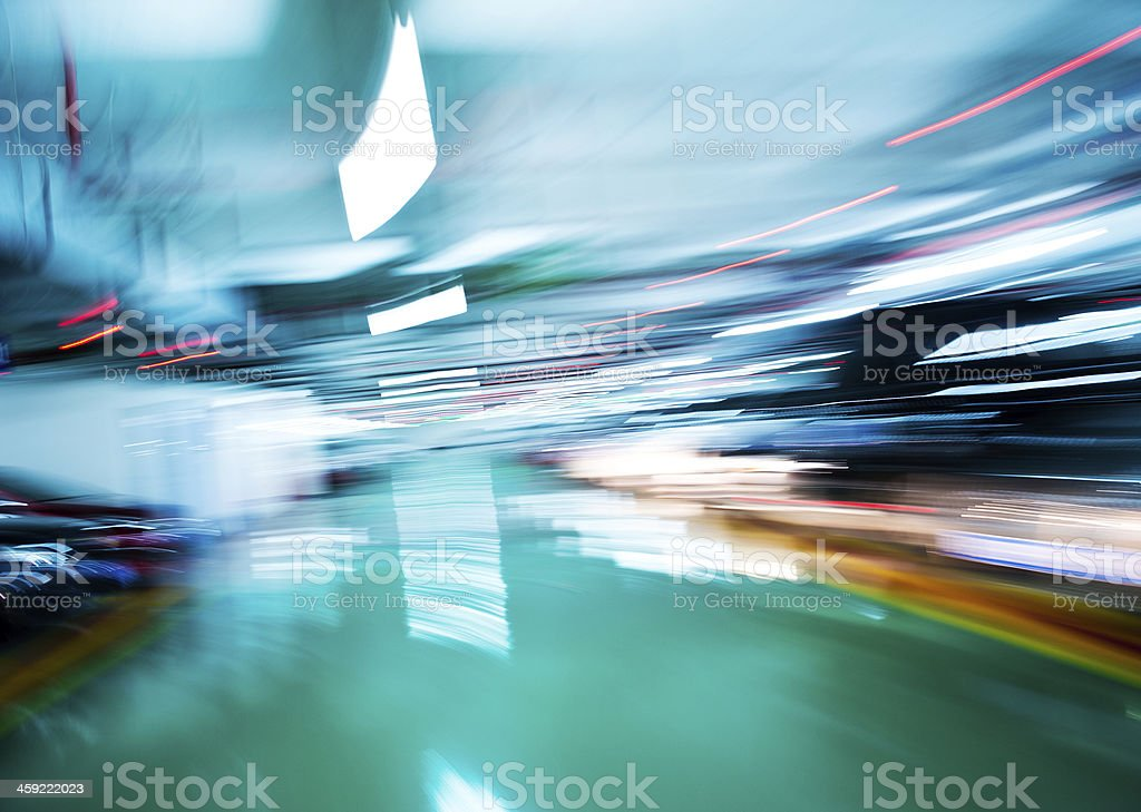 drive-up in motion royalty-free stock photo