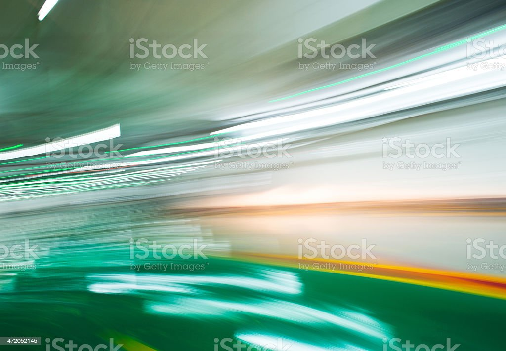 drive-up in motion stock photo
