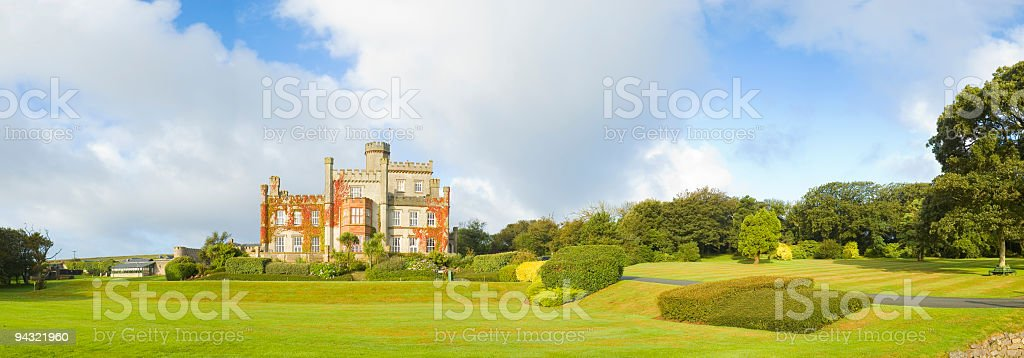 Driveway to luxury residence royalty-free stock photo