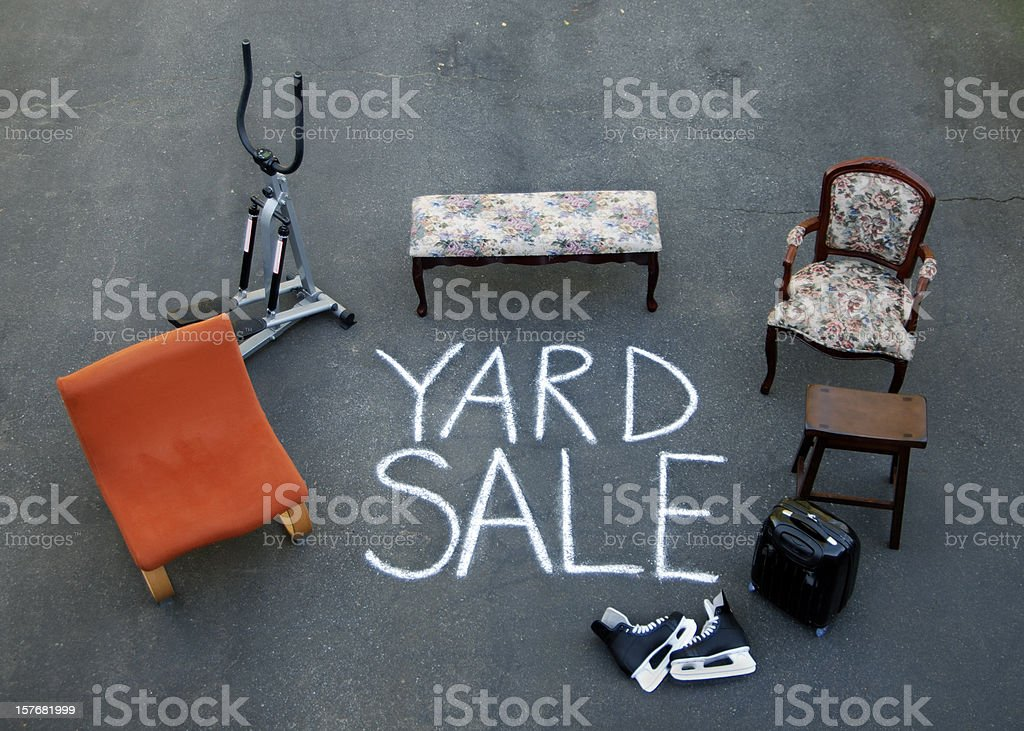 Driveway Yard Sale stock photo