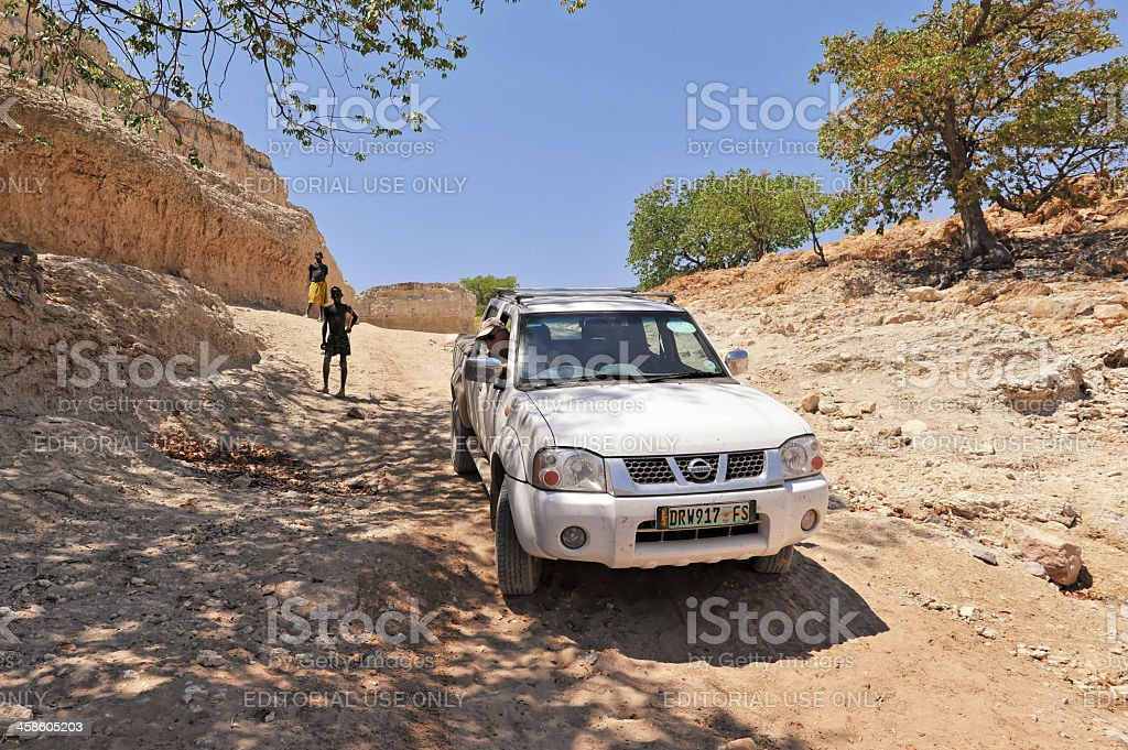 Driving a 4X4 track in Namibia royalty-free stock photo