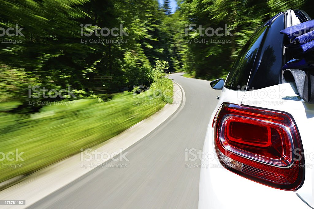 Driving a cabriolet stock photo