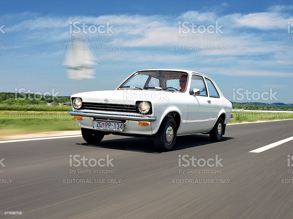 Driving a car royalty-free stock photo