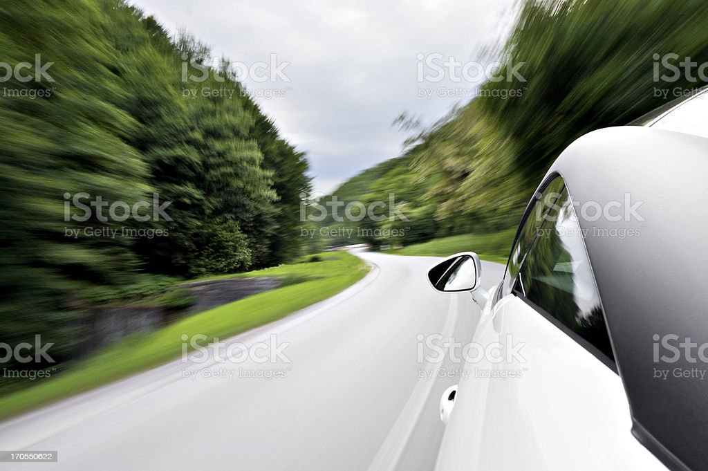 Driving a sports car stock photo