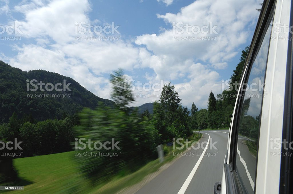 Driving across the Countryside stock photo