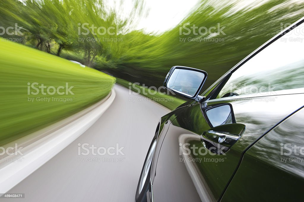 driving along country road royalty-free stock photo