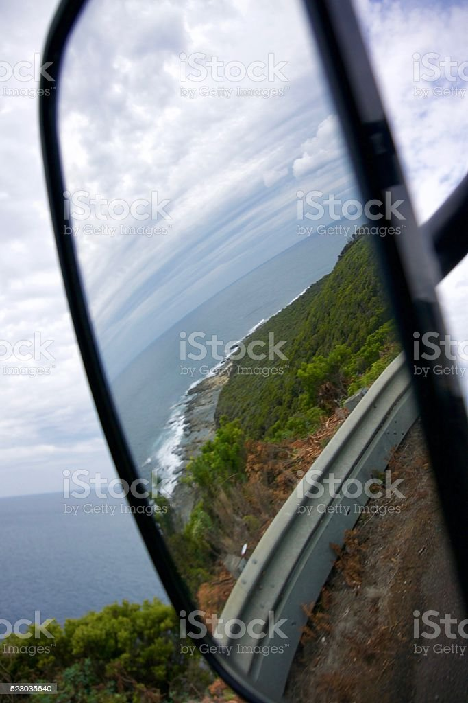 Driving along the Great Ocean Road stock photo