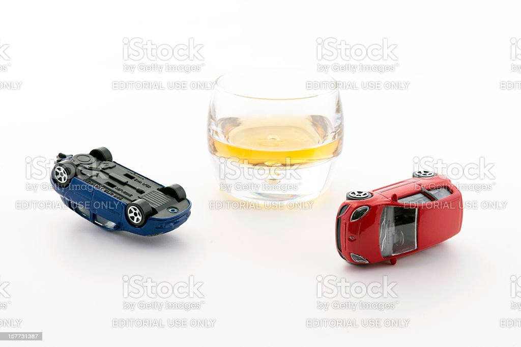 Driving and Drinking Concept stock photo