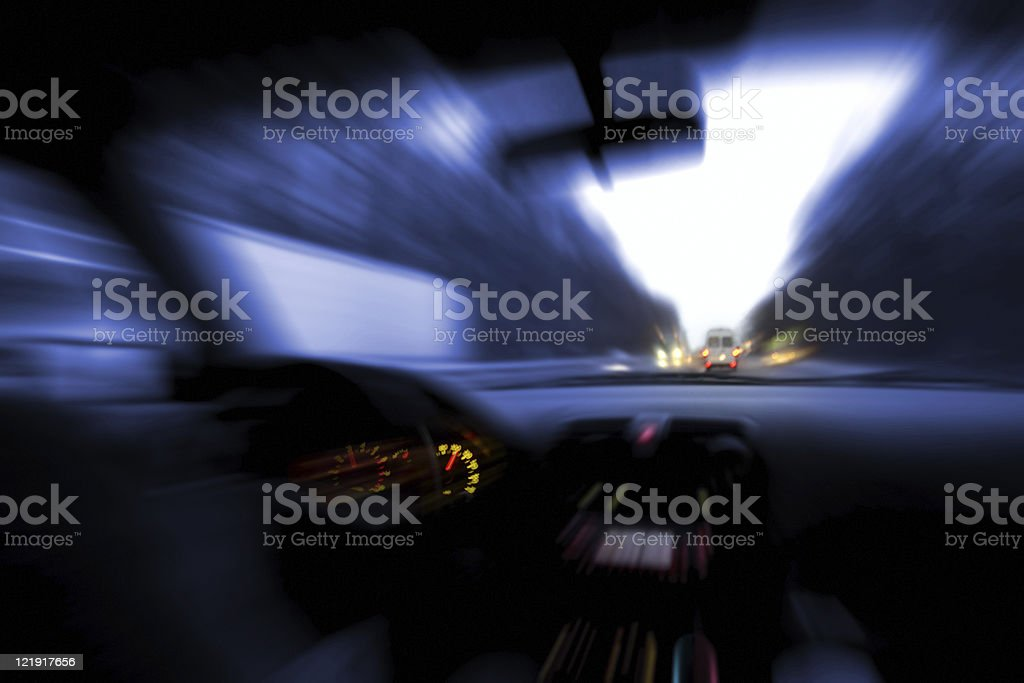 Driving and speeding royalty-free stock photo