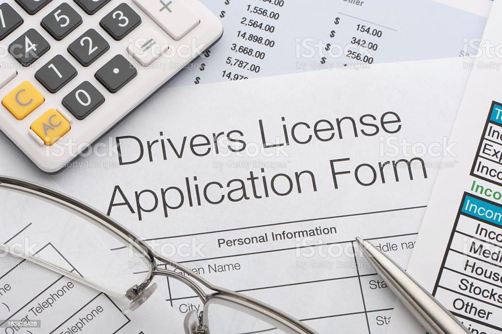 Driving application form royalty-free stock photo