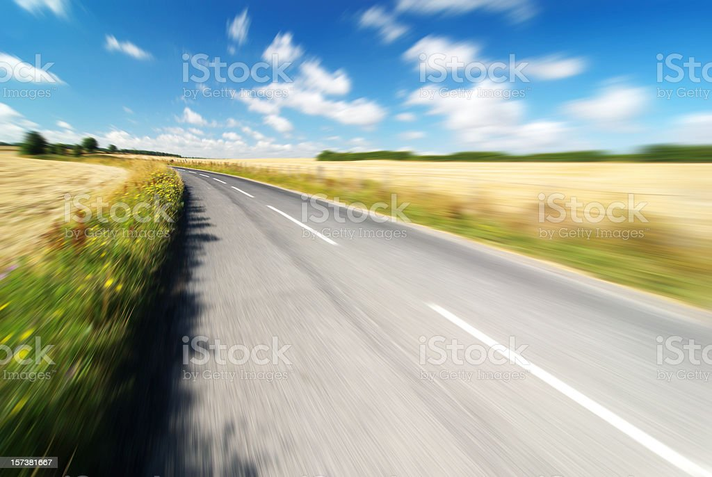 driving at full speed royalty-free stock photo
