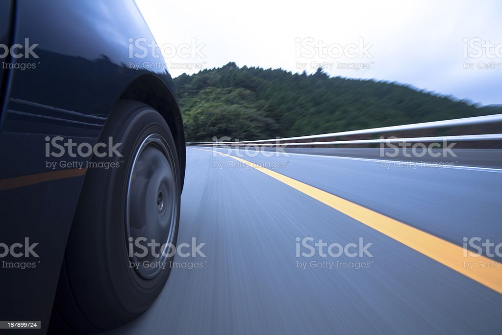 Driving at mountain road . royalty-free stock photo