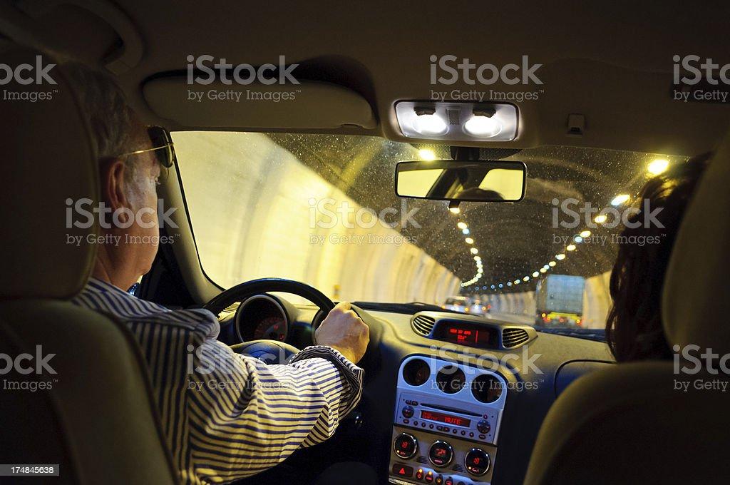Driving At Night royalty-free stock photo