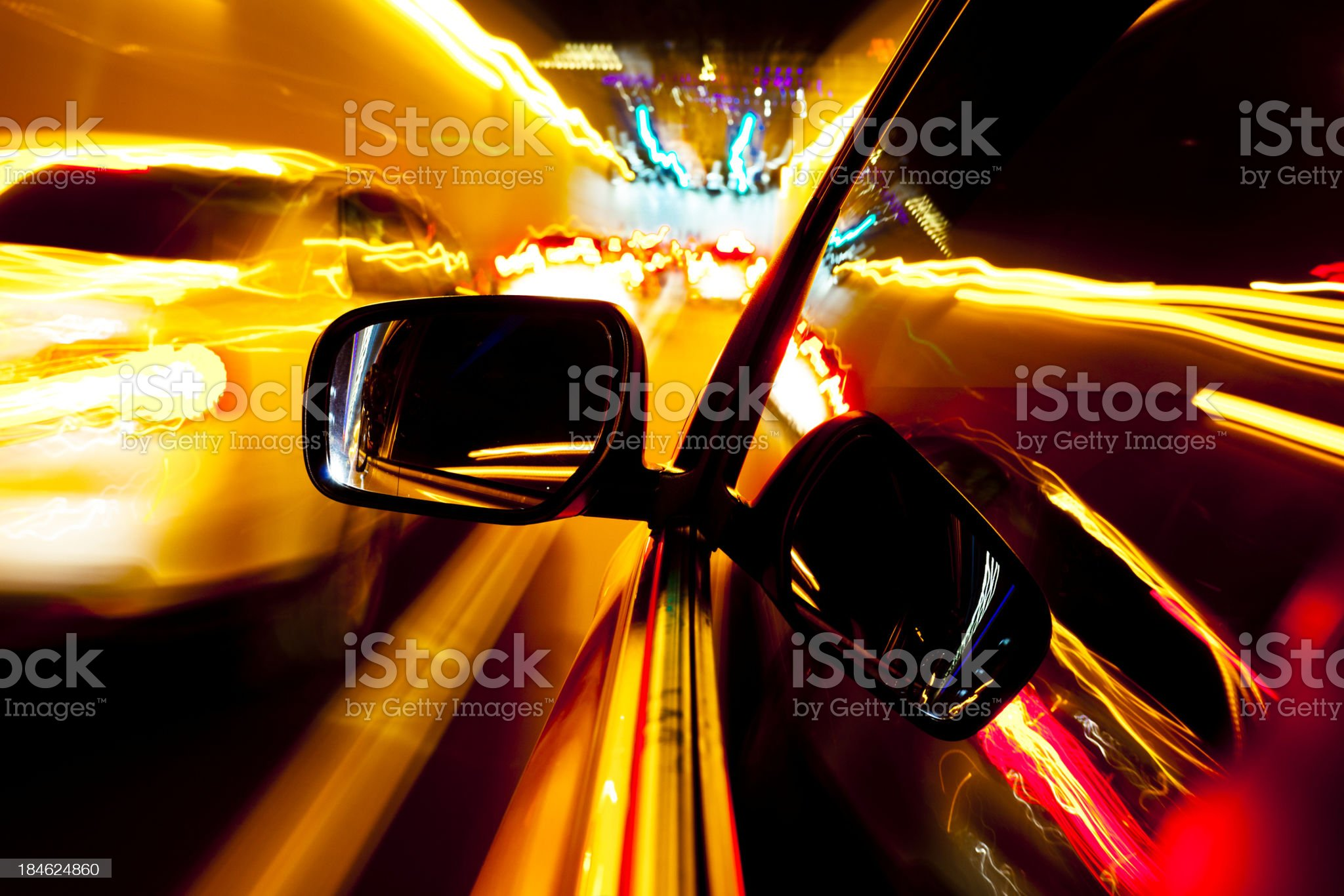 Driving at street of city royalty-free stock photo