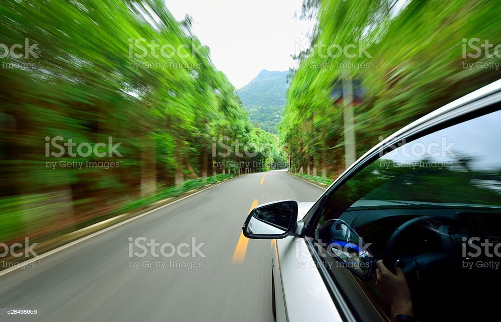Driving at the Urban Scene stock photo
