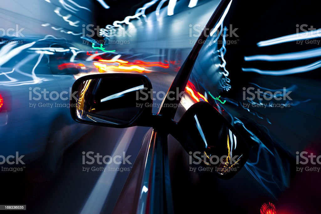 Driving at tunnel royalty-free stock photo