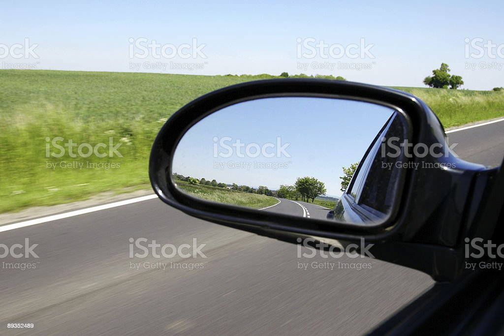 Driving by countryside royalty-free stock photo