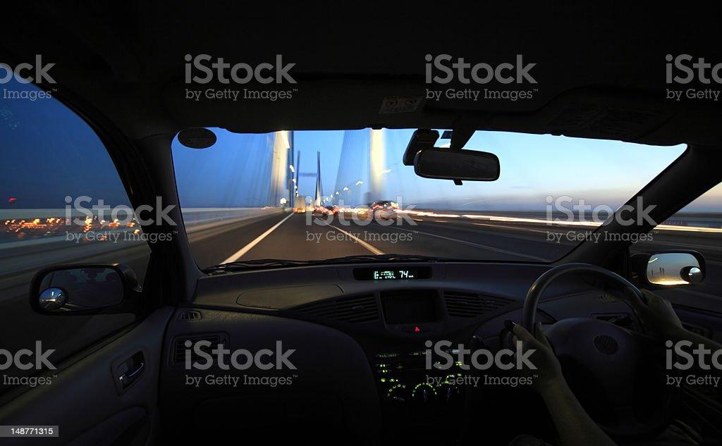 Driving car royalty-free stock photo