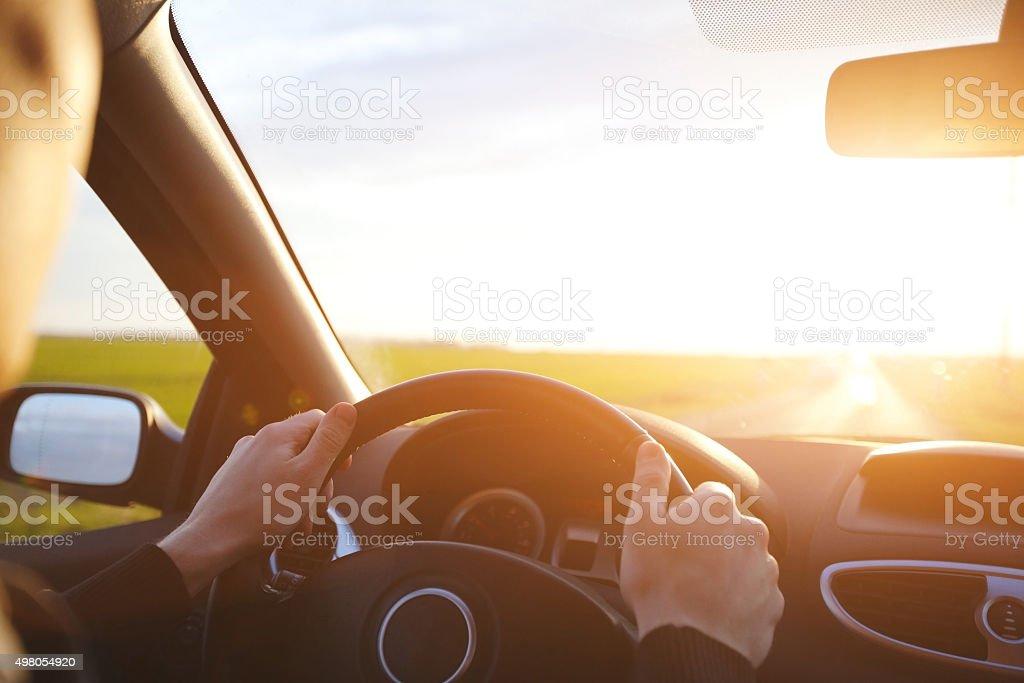 driving car stock photo