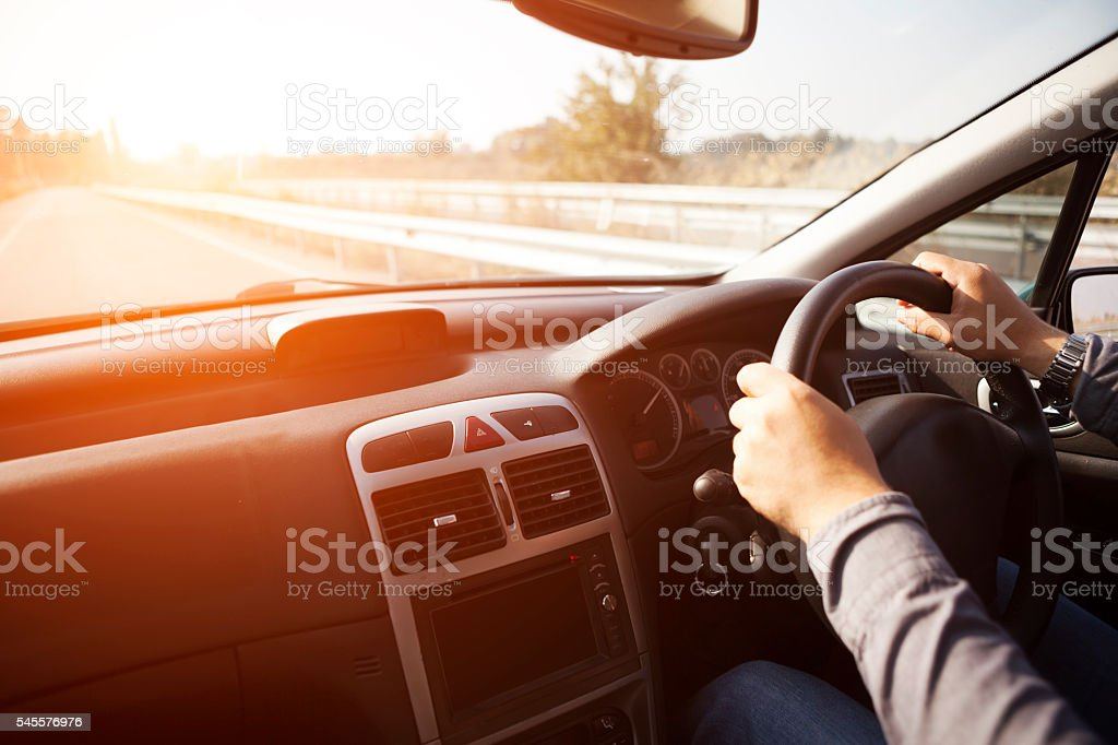 Driving Car stock photo