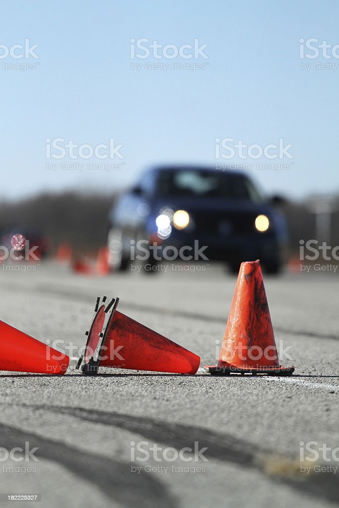 Driving Course royalty-free stock photo