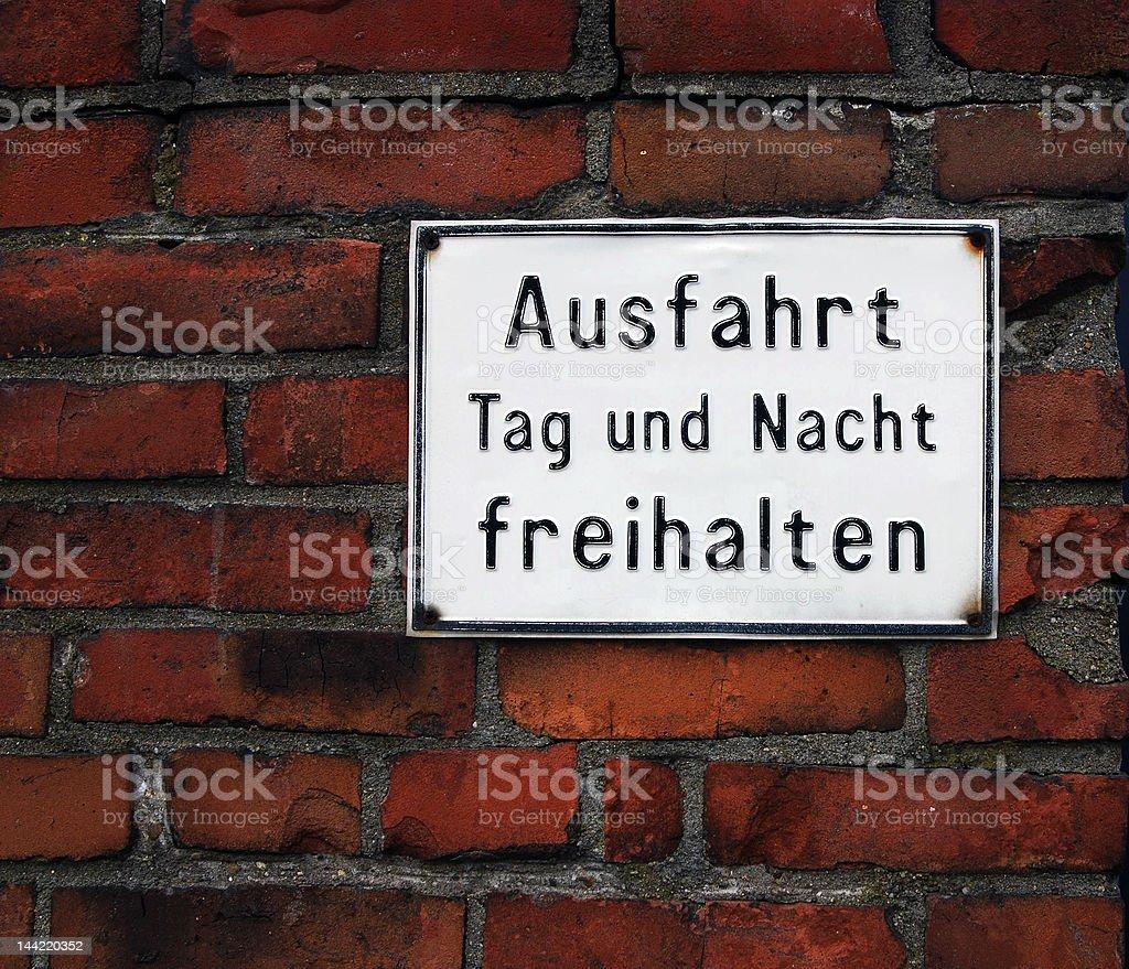 Driving Deutsch stock photo