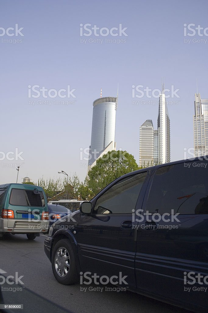 Driving Downtown royalty-free stock photo