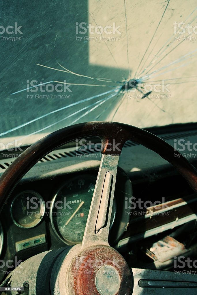 Driving & drinking royalty-free stock photo