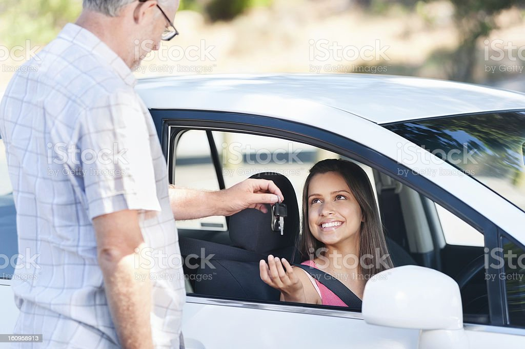 driving exam stock photo