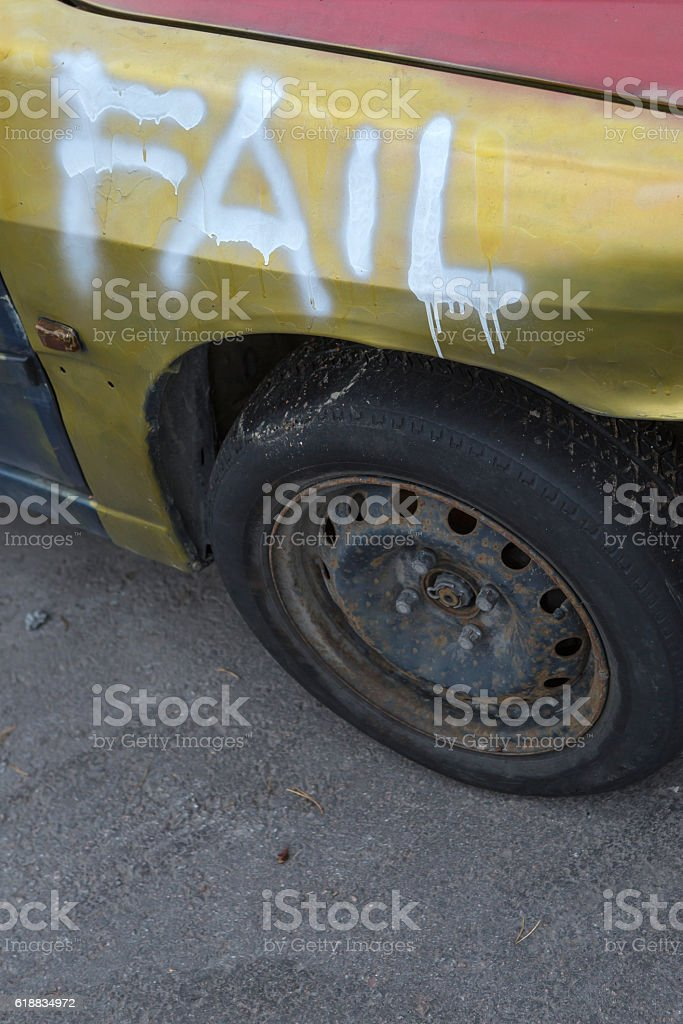 driving failure stock photo