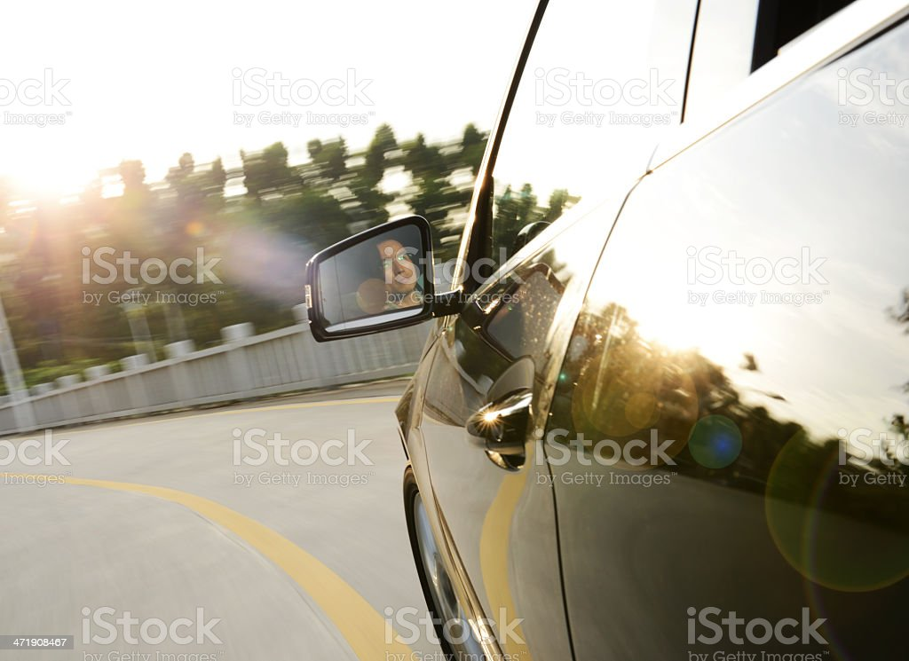 driving fast royalty-free stock photo
