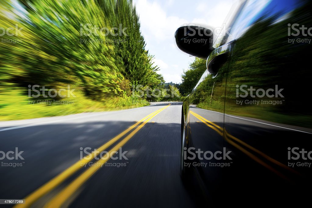 Driving Fast Speed royalty-free stock photo