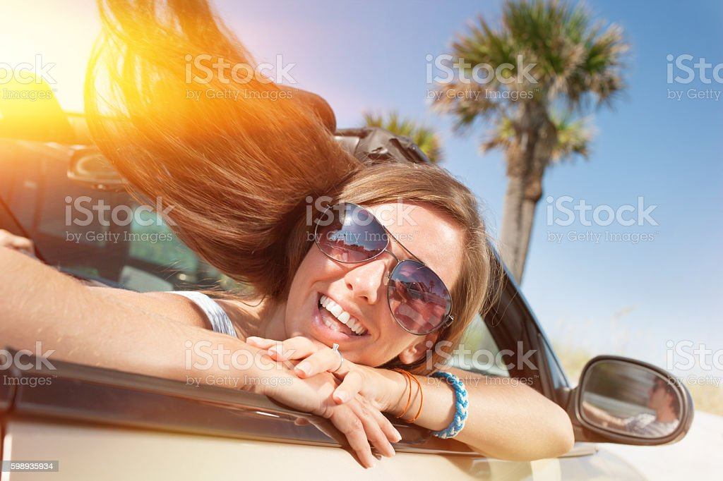 Driving freedom stock photo