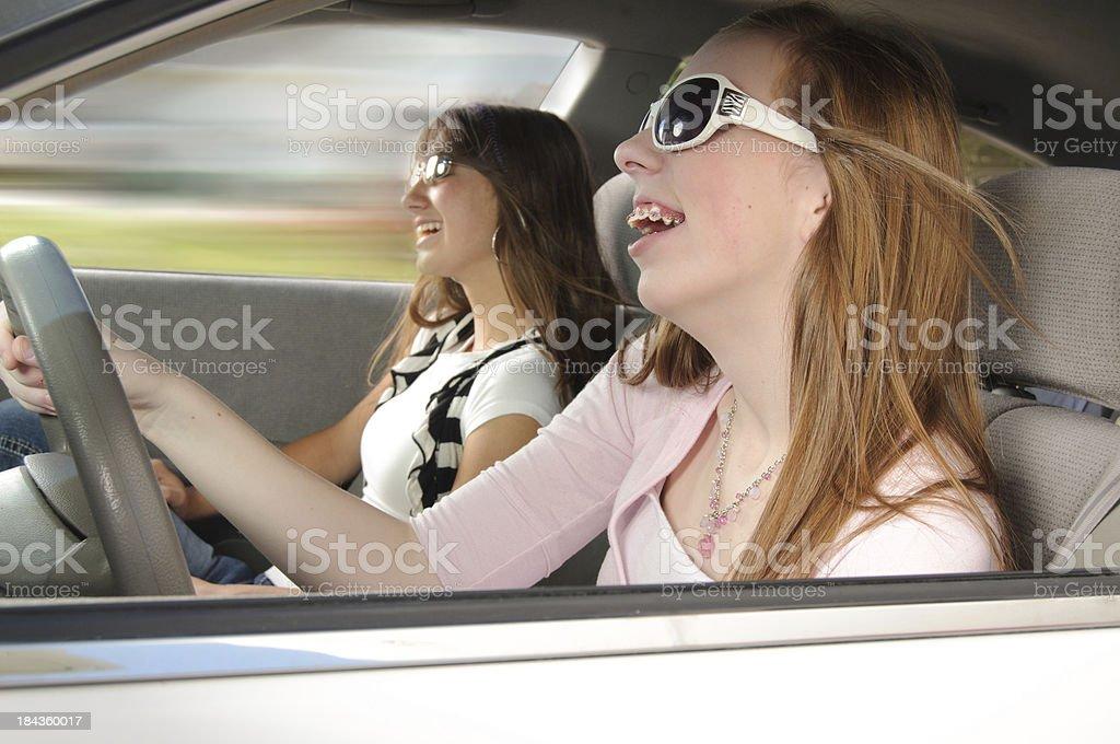 Driving Fun royalty-free stock photo