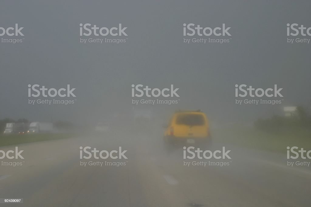 Driving in Bad Weather royalty-free stock photo