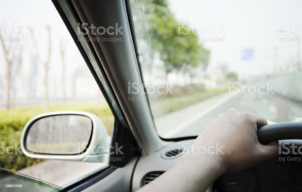 Driving in china royalty-free stock photo