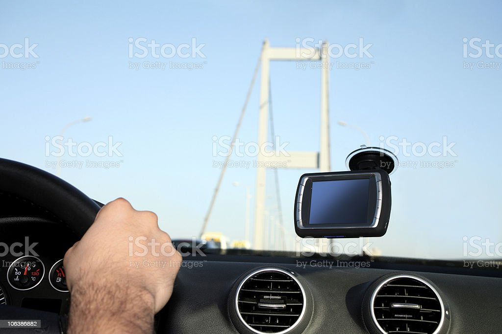 Driving in istanbul royalty-free stock photo