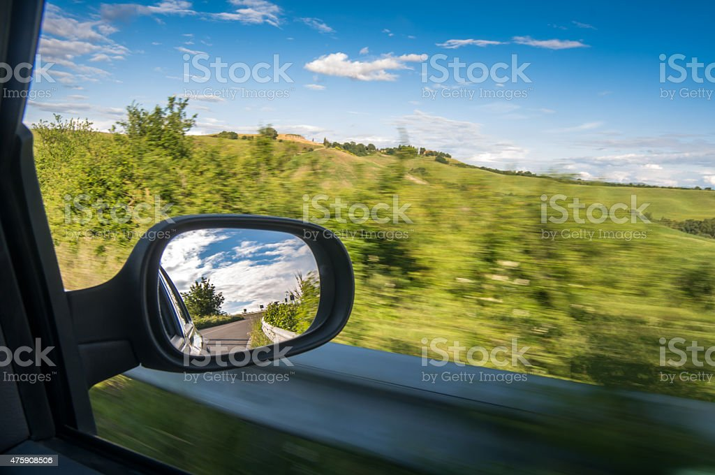 Driving in nature stock photo