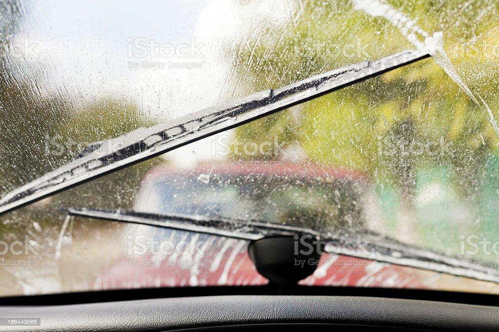 driving in rain stock photo
