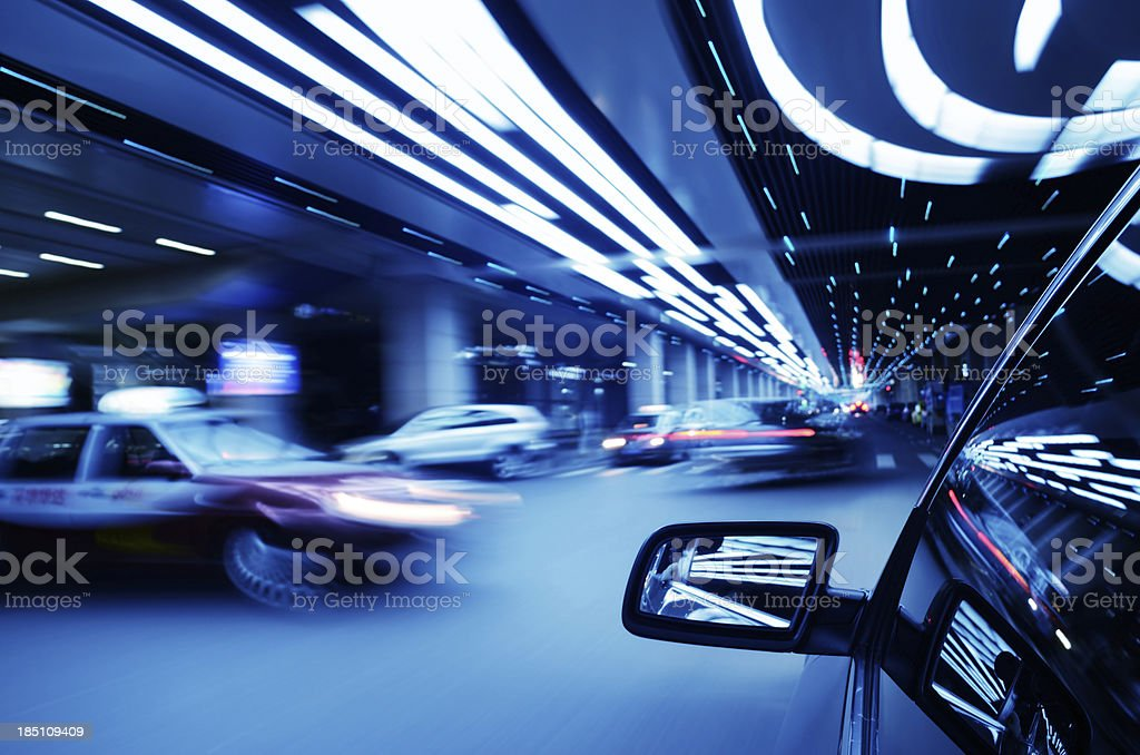 Driving in street royalty-free stock photo