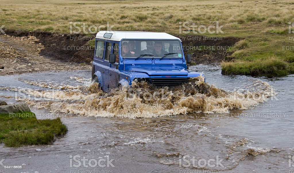Driving in the Falkland Islands stock photo
